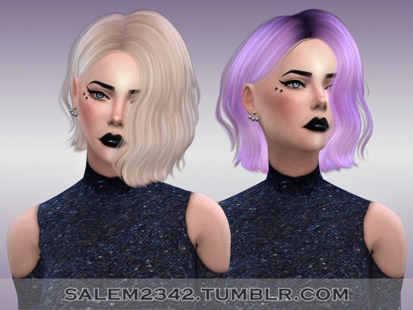 Salem2342: Sintiklia`s 27 Lime hair retextured for Sims 4
