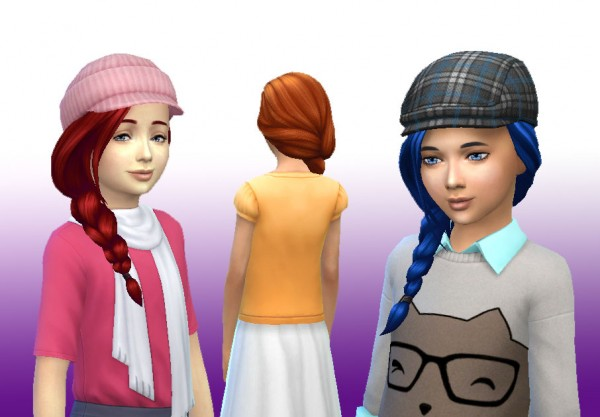 Mystufforigin: Braid Side for Girls for Sims 4