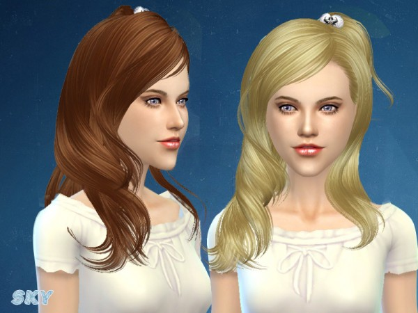 The Sims Resource: Hair 106 by Skysims for Sims 4