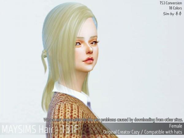 MAY Sims: May 131F hair retextured for Sims 4