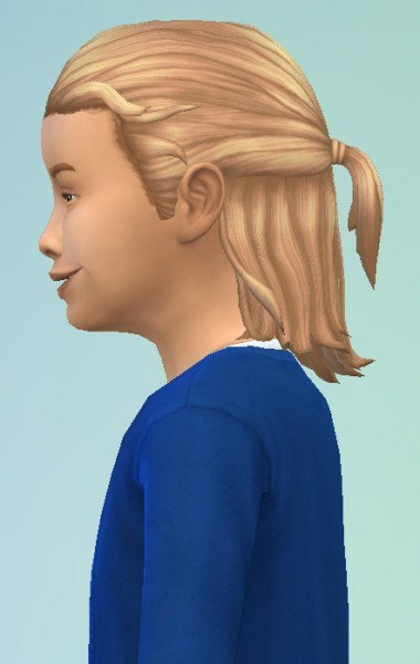 Birksches sims blog: Long Tied hair for Boys for Sims 4