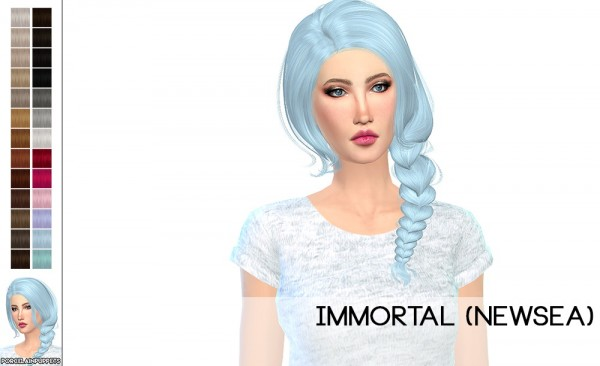 Porcelain Warehouse: Newsea Joice and Immortal hair retextured for Sims 4