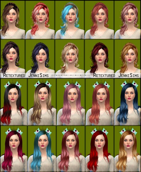 Jenni Sims: Newsea`s Vera and Chawla Hairs retextured for Sims 4