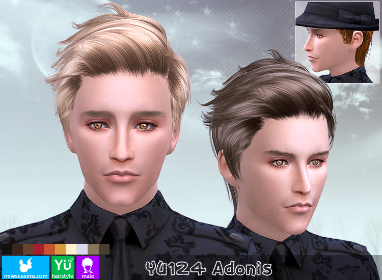 Sims 4 Hairs Newsea Yu124 Adonis Hair