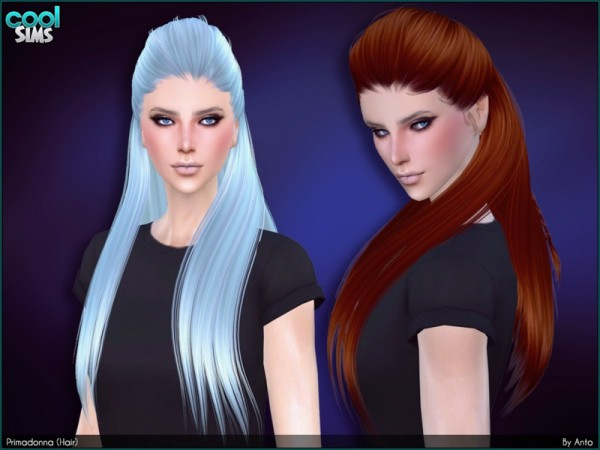 The Sims Resource: Anto   Primadonna hairstyle for Sims 4