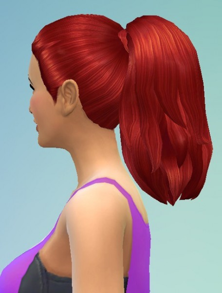 Birksches sims blog: Thick Ponytail for Sims 4