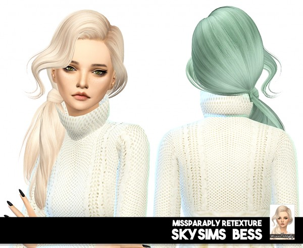 Miss Paraply: Skysims Bess hair retextured for Sims 4