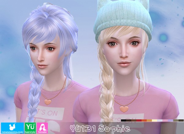 NewSea: YU131 Sophie hair for Sims 4