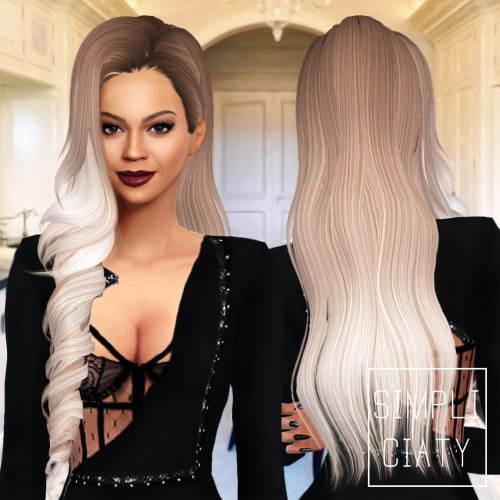 Simpliciaty: Skysims 244 hair converted from TS3 to TS4 for Sims 4