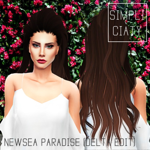 Simpliciaty: Newsea`s Paradise hair retextured for Sims 4