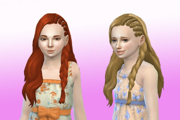 Mystufforigin: Claire Hairstyle for Girls for Sims 4