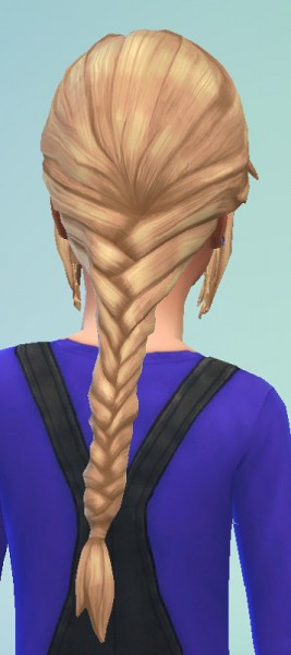 Birksches sims blog: Fishtail hair for girls for Sims 4