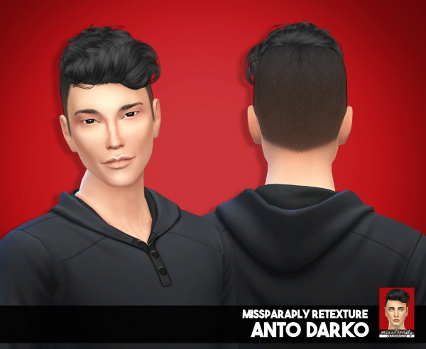 Miss Paraply: Happy holidays! Starter pack hair for him for Sims 4