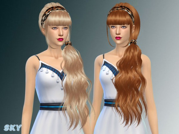 The Sims Resource: Hair 063 by Skysims for Sims 4
