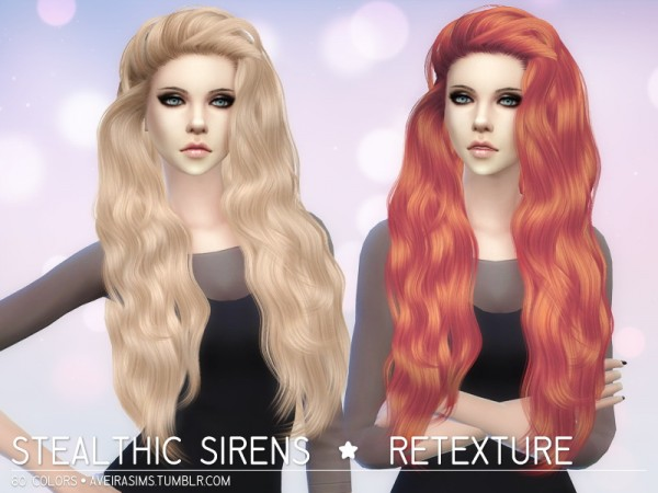 Aveira Sims 4: Stealthic`s Sirens hair retextured for Sims 4