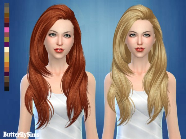 Butterflysims: Hair 180 NO Hat for Sims 4
