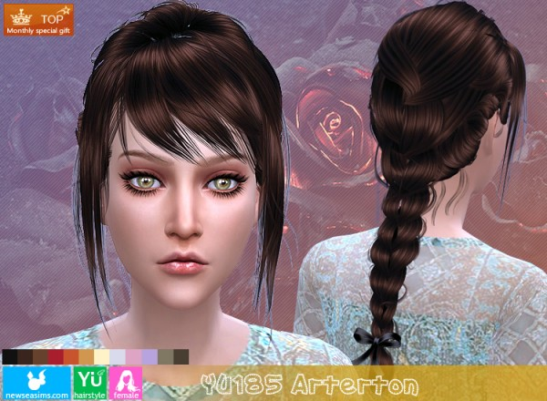 NewSea: YU185 Arterton hair for Sims 4