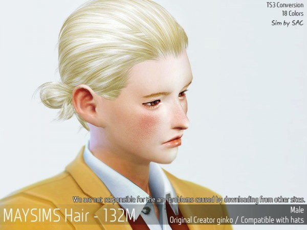 MAY Sims: May 132M hair retextured for Sims 4