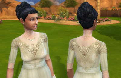 Mystufforigin: Indian inspiration hair for Sims 4