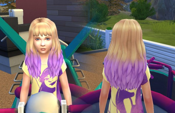 Mystufforigin: Dipped Color for Girls for Sims 4