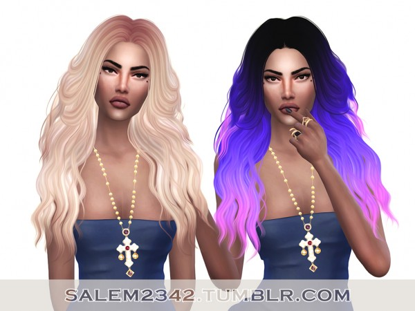 Salem2342: Sintiklia 13 Ann Hair Retextured for Sims 4