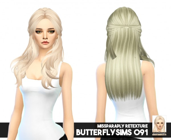 Miss Paraply: Masterpost hairs retextured for Sims 4