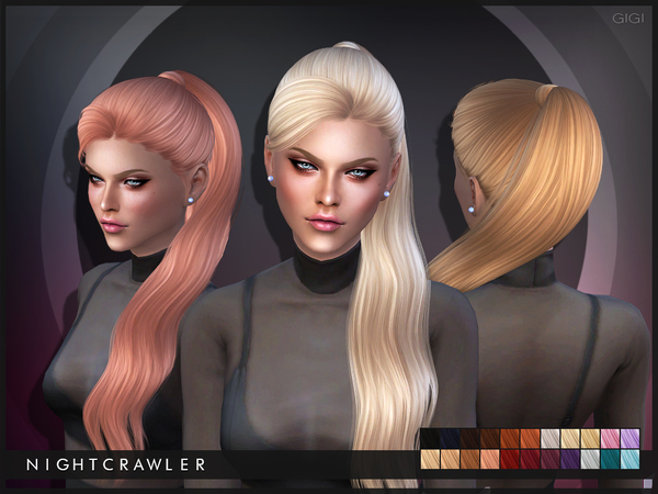 The Sims Resource: Gigi hairstyle by Nightcrawler for Sims 4