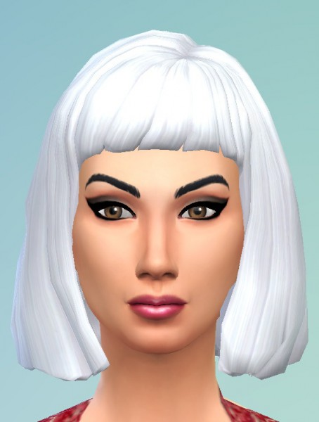 Birksches sims blog: Bob with short bangs for Sims 4