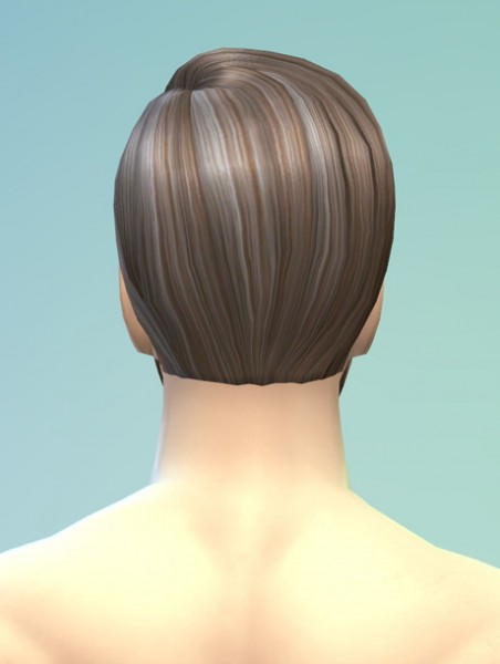 Rusty Nail: Long wavy classic hair for him for Sims 4