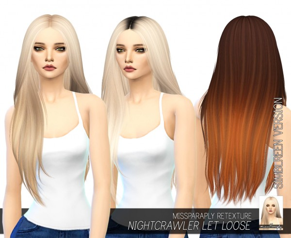 Miss Paraply: Simblreen 2015  hairs retextured for Sims 4