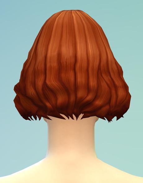 Rusty Nail: Long wavy parted V5 hair for Sims 4