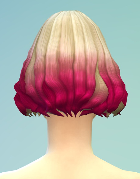 Rusty Nail: Long wavy parted  V5 ombre hair for Sims 4