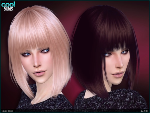 The Sims Resource: Citric Hair by Anto for Sims 4