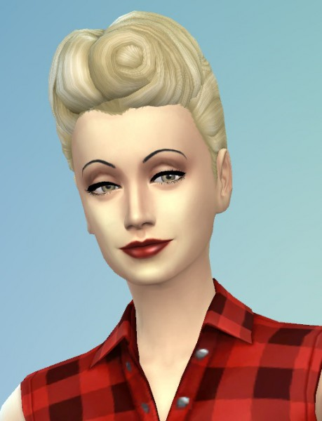 Birksches sims blog: The 50s Hair for ladys for Sims 4
