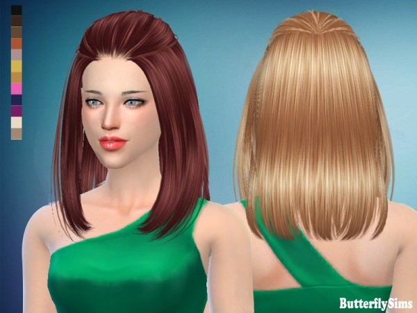 Butterflysims: Hair 187 for Sims 4