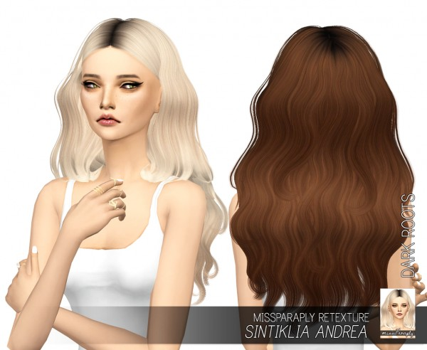Miss Paraply: Sintiklia`s Andrea hair retextured for Sims 4
