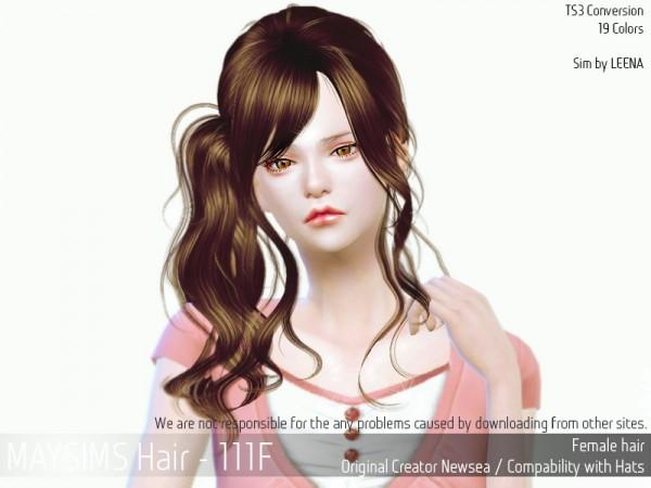 MAY Sims: May 111F hair retextured for Sims 4