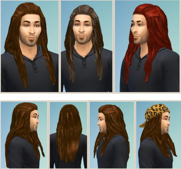 Birksches sims blog: Jason Dreads for Sims 4