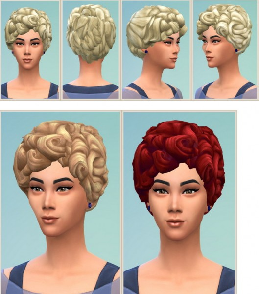 Birksches sims blog: My Housewife Hair for Sims 4