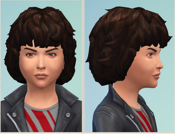 Birksches sims blog: Curly Mop Hair for Boys for Sims 4
