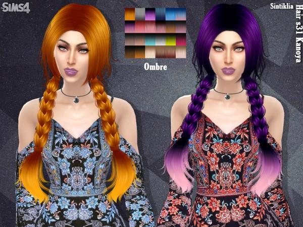 Sintiklia Sims: Hair 31 Kanoya by Sintiklia for Sims 4