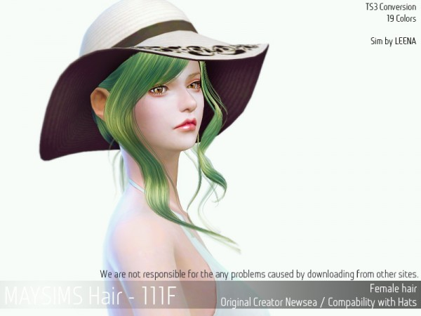 MAY Sims: May 111F hair retextured for Sims 4
