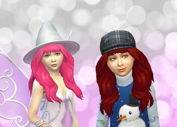 Mystufforigin: Calm wind hair retextured for Sims 4