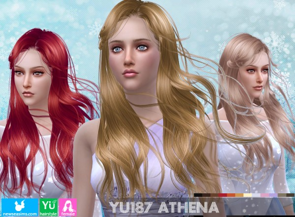 NewSea: YU 187 hair for Sims 4