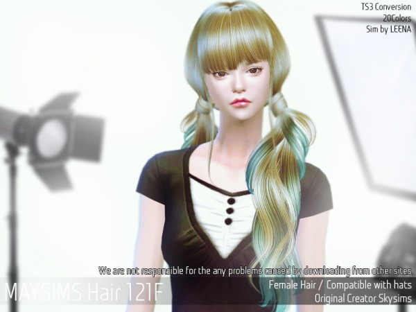 MAY Sims: May 121F hair retextured for Sims 4