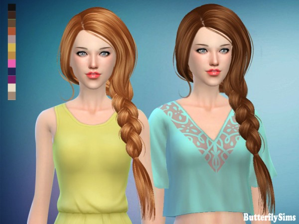 Butterflysims: Hairstyle190 for Sims 4