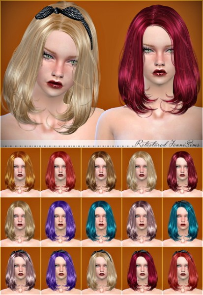 Jenni Sims: Newsea`s Lafite hair retextured for Sims 4