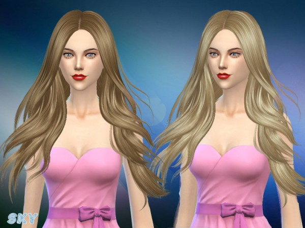 The Sims Resource: Zoe hair 280 by Skysims for Sims 4
