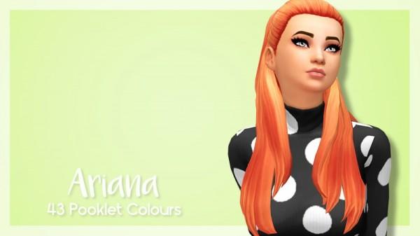 SimBlob: Ariana hair retextured for Sims 4