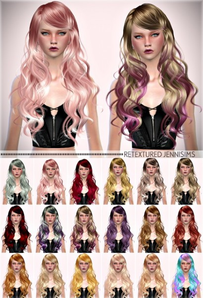 Jenni Sims: Newsea`s Sparklers hair retextured for Sims 4